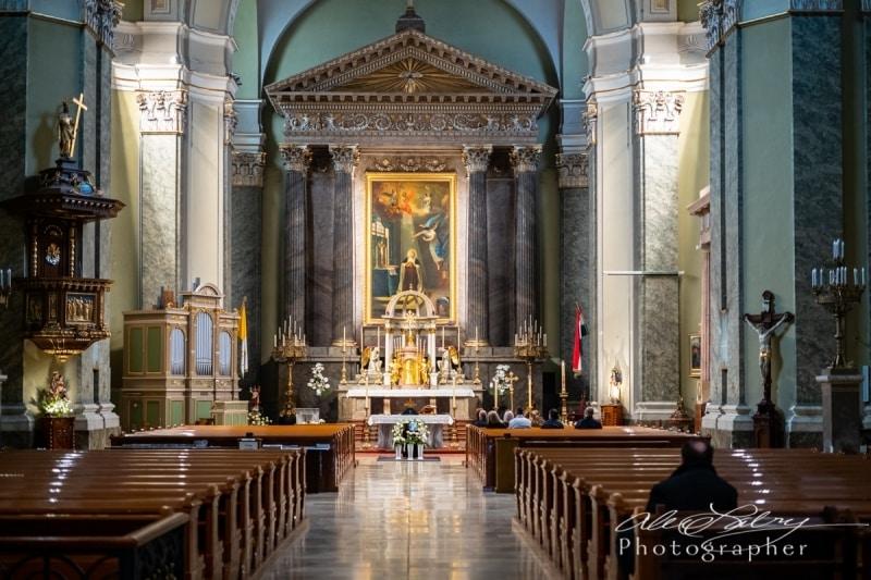 Church interior, Kalocsa, Hungary, 2018