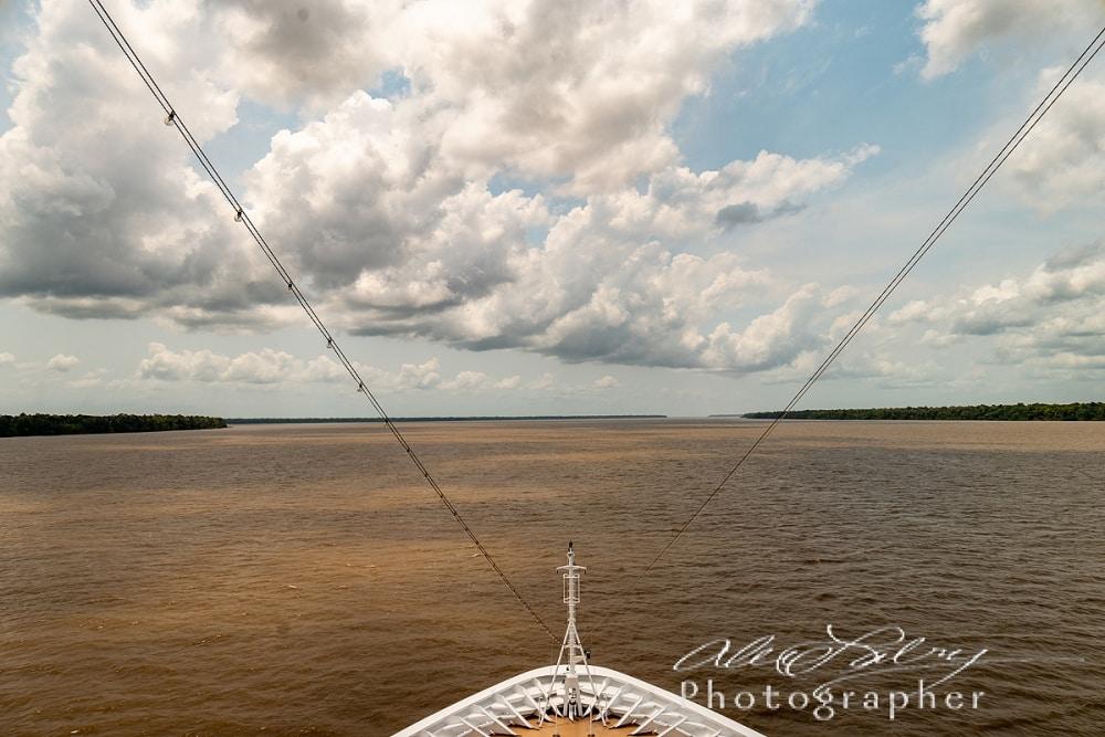 Ship's Bow Heading into Amazon River