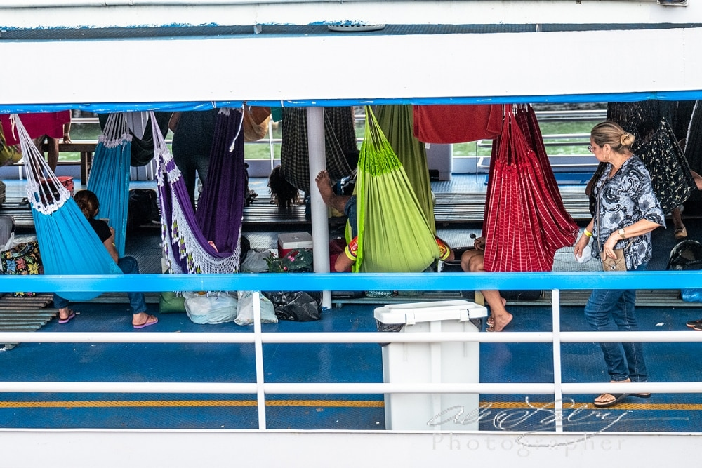 Hammocks on River Boat