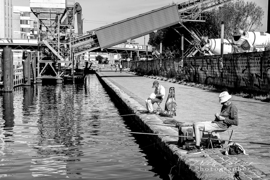 Fisherman along Canal St. Martin