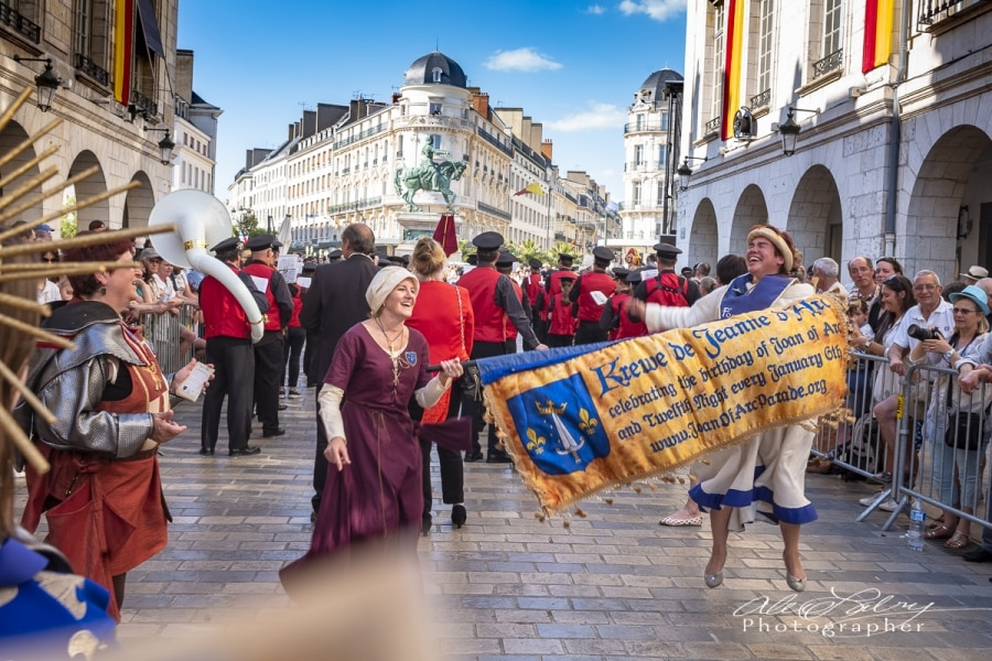 Parading with the Fete,  Orleans, France, 2018
