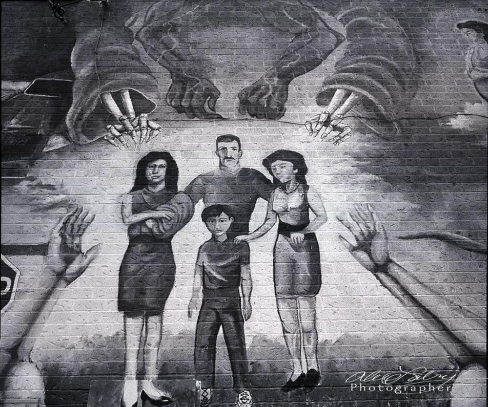 Portion of Wall Mural, San Antonio, 1989