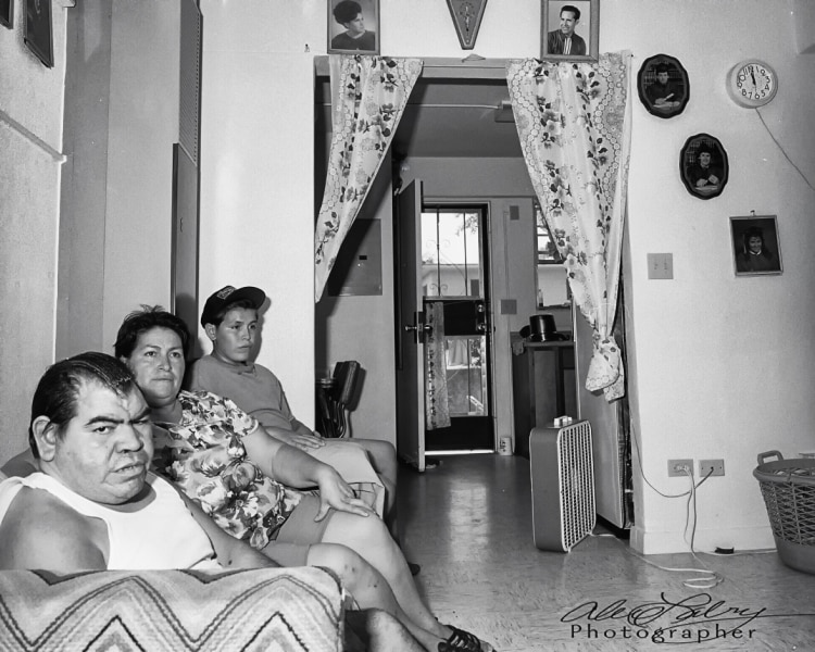 Avance family at home, San Antonio, 1990
