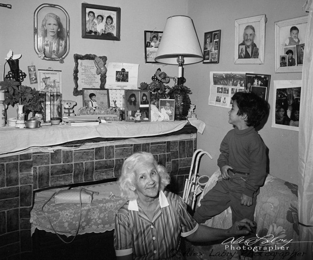 Christopher and his Great Grandmother, 1990