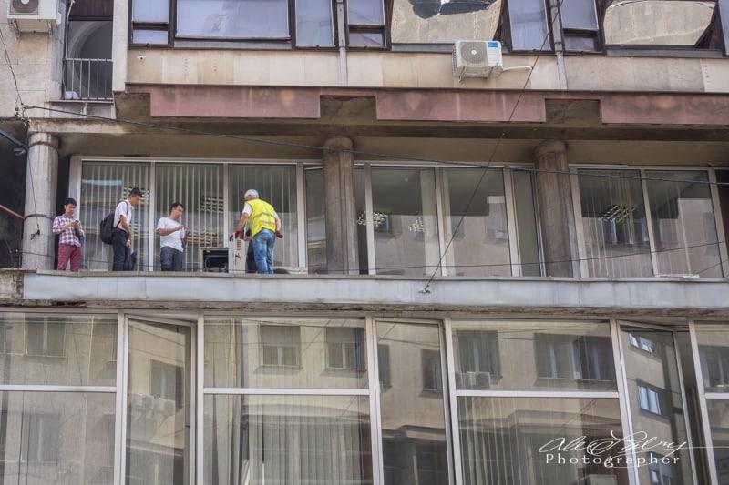 Office workers, Belgrade, Serbia