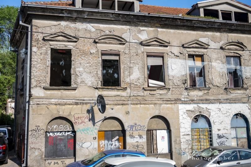 War torn building, Belgrade, Serbia