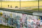 East German soldiers, along the Berlin Wall, 1989