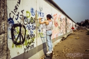 Along the Berlin Wall, 1990
