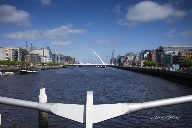 View of Samuel Beckett Bridge