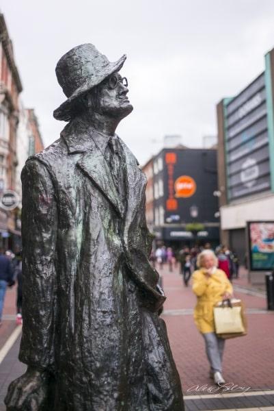 "James Joyce Statue, aka, ""The Prick with The  Stick"""