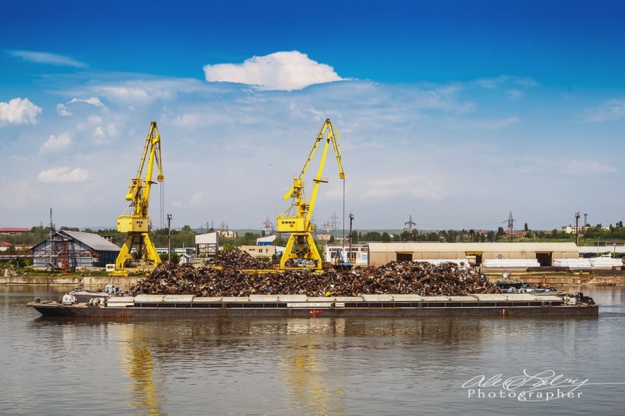 Romanian barges on the Danube