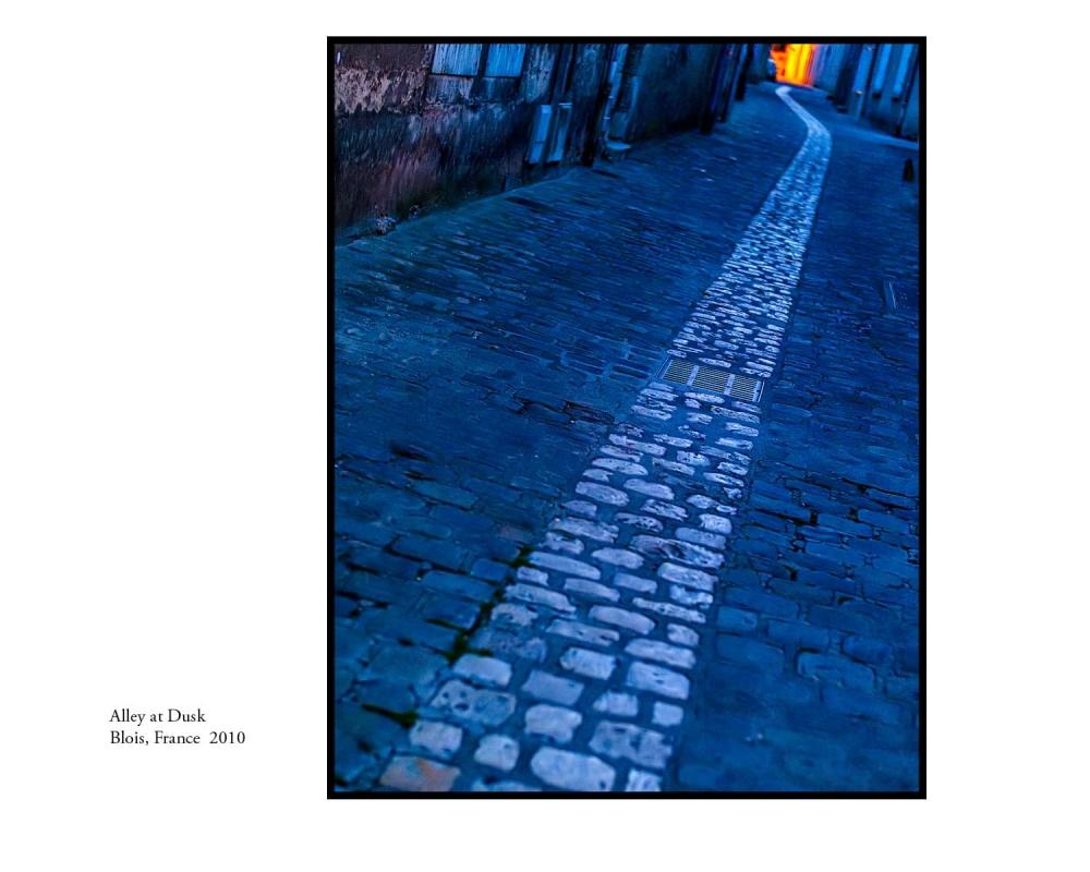 Alley at Dusk, Blois, France, 2010