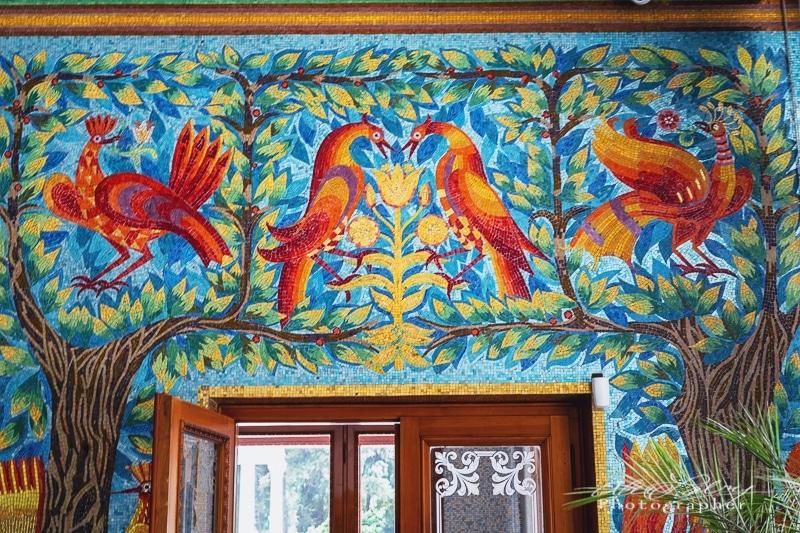 Mosaic Tile swimming pool, Ceaușescu mansion, Bucharest
