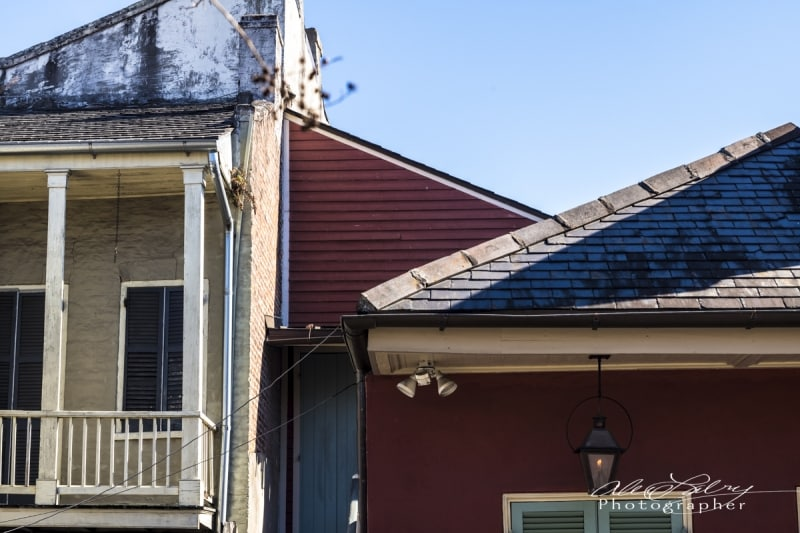 Roofs, French Quarter, New Orleans , 2017